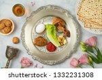 jewish holiday passover...   Shutterstock . vector #1332231308