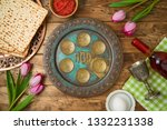 jewish holiday passover...   Shutterstock . vector #1332231338