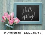 """chalk board with text """"hello... 