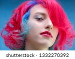 high fashion model woman with...   Shutterstock . vector #1332270392