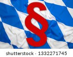 bavaria flag with red paragraph ... | Shutterstock . vector #1332271745