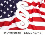 usa flag with white paragraph... | Shutterstock . vector #1332271748