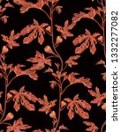 botanical seamless pattern with ... | Shutterstock . vector #1332277082
