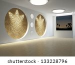 empty room with a painting on... | Shutterstock . vector #133228796