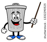 trash can mascot with a pointer ... | Shutterstock .eps vector #1332290525