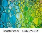 bright water oil bubble...   Shutterstock . vector #1332293315