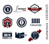 university emblems and symbols  ... | Shutterstock .eps vector #133230125