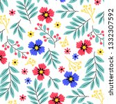 seamless pattern with colorful... | Shutterstock .eps vector #1332307592