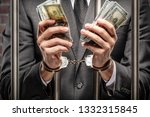 brazilian man holding bills of... | Shutterstock . vector #1332315845