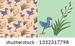 "new zealand ""kiwiana"" design... | Shutterstock .eps vector #1332317798"