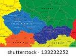 czech and slovak republics map   Shutterstock .eps vector #133232252
