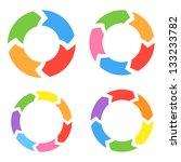 color circle arrows set. vector | Shutterstock .eps vector #133233782
