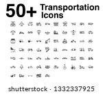 transportation line icons set.... | Shutterstock .eps vector #1332337925