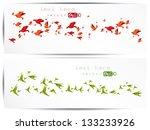 origami paper bird.vector... | Shutterstock .eps vector #133233926