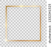 gold shiny square frame with... | Shutterstock .eps vector #1332341525