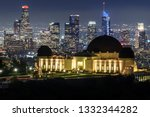 griffith observatory and...   Shutterstock . vector #1332344282