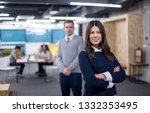 portrait of successful business ... | Shutterstock . vector #1332353495