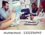 multiethnic startup business... | Shutterstock . vector #1332356945