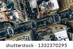 aerial view of new york... | Shutterstock . vector #1332370295