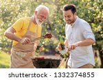 barbecue.leisure  food  family... | Shutterstock . vector #1332374855