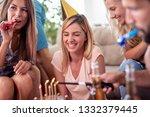 celebration  food  friends...   Shutterstock . vector #1332379445