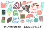 set of back to school doodles | Shutterstock .eps vector #1332384185