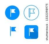 flag icon  four variants ... | Shutterstock .eps vector #1332398975