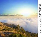sunrise above a mountains | Shutterstock . vector #133240052