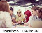 multiethnic startup business... | Shutterstock . vector #1332405632