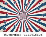 american patriotic background.... | Shutterstock . vector #1332415805