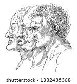 study of the varieties of... | Shutterstock .eps vector #1332435368
