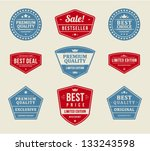 vintage labels or badges retro... | Shutterstock .eps vector #133243598