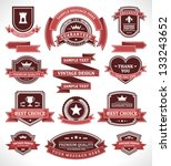 vintage labels and ribbons set. ... | Shutterstock .eps vector #133243652
