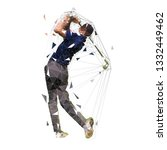 golf player  low polygonal... | Shutterstock .eps vector #1332449462