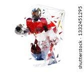 hockey goalie  geometric vector ...   Shutterstock .eps vector #1332451295