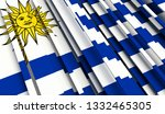 abstract flag of uruguay. 3d... | Shutterstock . vector #1332465305