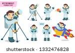 astronaut characters vector set ... | Shutterstock .eps vector #1332476828