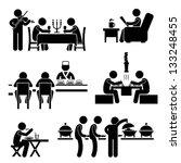restaurant cafe food drink... | Shutterstock .eps vector #133248455