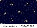 seamless night sky pattern with ... | Shutterstock .eps vector #1332485282