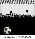 football fans crowd | Shutterstock .eps vector #133248638