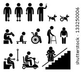 amputee handicap disable people ... | Shutterstock .eps vector #133250006
