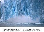 glacier's front wall  perito... | Shutterstock . vector #1332509792