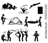 man helping people saving life...   Shutterstock .eps vector #133251182