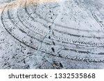 snow tire print   Shutterstock . vector #1332535868