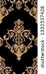 golden elements in baroque ... | Shutterstock . vector #1332537428