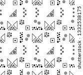 seamless vector geometrical... | Shutterstock .eps vector #1332538175