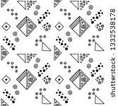 seamless vector geometrical... | Shutterstock .eps vector #1332538178