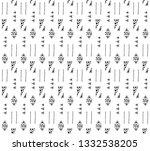 seamless vector geometrical... | Shutterstock .eps vector #1332538205