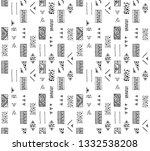 seamless vector geometrical... | Shutterstock .eps vector #1332538208