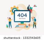 404 error page not found.... | Shutterstock .eps vector #1332543605